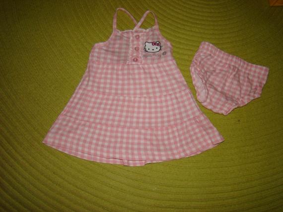 Ensemble Robe+Bloomer Hello Kitty - Taille 6 mois - 5€