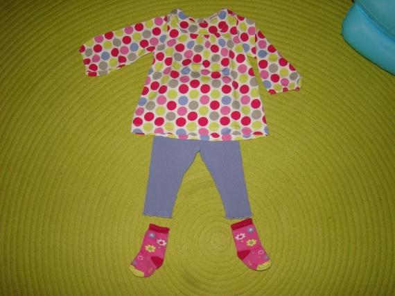 Ensemble GRAIN DE BLE Tee-Shirt+Legging+Chaussettes - 6 mois - 5€