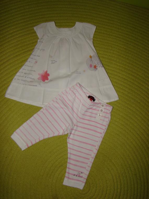 Ensemble CATIMINI Robe+Legging - 6 mois - 10€