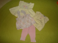Ensemble TAPE A L'OEIL 2 Tee-Shirts+Tunique+Legging - 6&12 mois - 8€