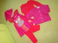 Ensemble DPAM Body+Robe+Legging+Tee-Shirt ML+Gilet+Chapeau - 6&12 mois - 22€
