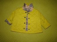 Petite veste BURBERRY - vert anis très joli - Taille 6 mois - 22€
