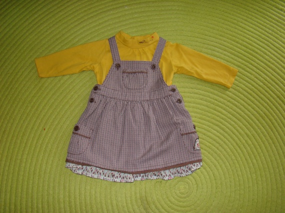 """Ensemble SERGENT MAJOR Robe+Sous-pull """"Miss Mary"""" - Taille 6 mois - 12€"""