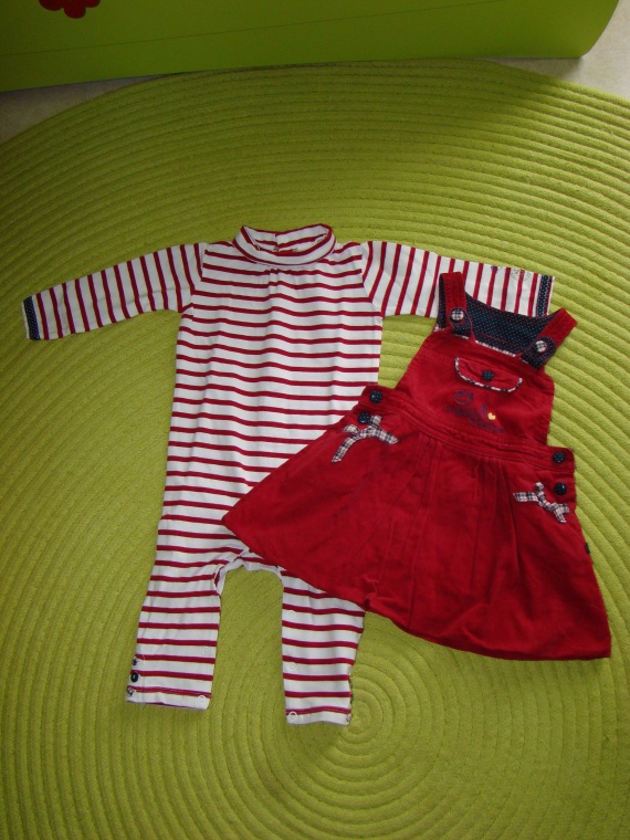 Combilong+Robe SERGENT MAJOR - Taille 9 mois - 12€