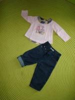 Jean CHLOE+Tee-Shirt TAO - Taille 9 mois - 20€