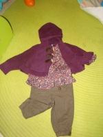 Ensemble TAO Cape+Blouse+Pantalon - Taille 9 mois - 15€