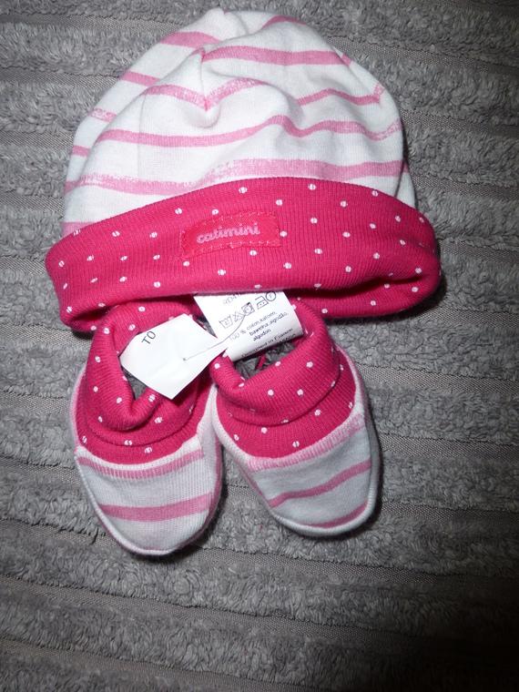 Ensemble bonnet + chaussons CATIMINI - Taille 0