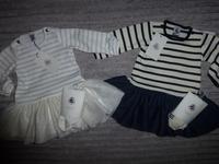 Robes + Collants PETIT BATEAU - Taille 6 mois