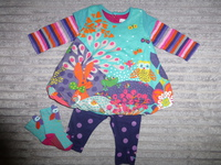 Robe + Legging (Taille 3 mois) + Chaussettes (Pointure 15/18) : 25€