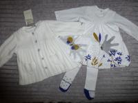 Robe (Taille 3 mois) + Collants (Pointure 15/18) : 30€ - Manteau en laine doublé polaire neuf : 35€