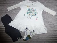 Ensemble Robe + Legging (Taille 3 mois) + Chaussettes (Pointure 15/18) : 35€