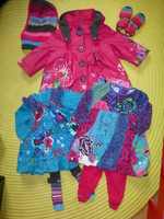 Manteau + Bonnet + Moufles : 35€ / Ensemble de droite : 25€ / Ensemble de gauche : 20€