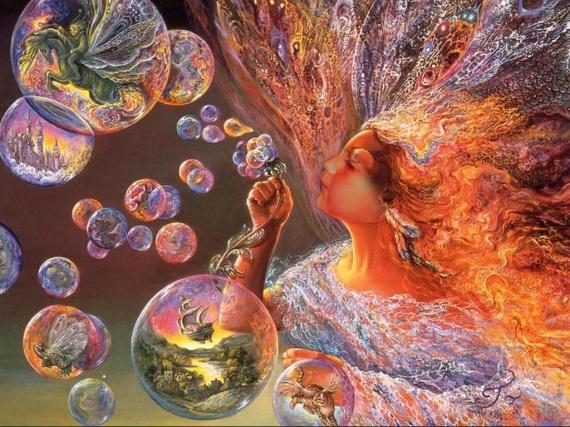 Elina et ses bulles