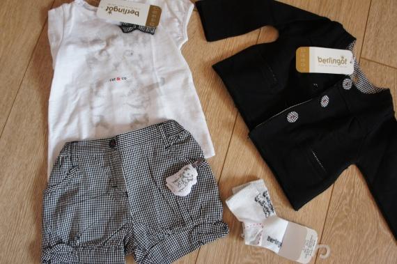 Berlingot Short + Tshirt mc + Gilet 12 mois + Chausettes 19/22