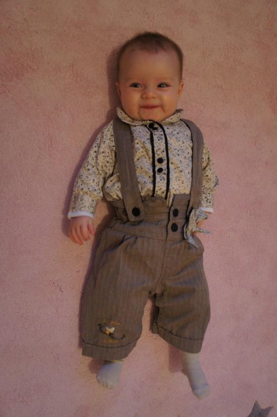 Sergent Major 3 mois : salopette et chemise