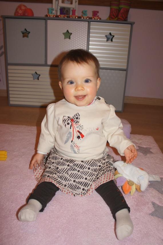 Jean Bourget jupe-legging tshirt 12 mois