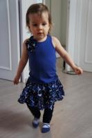 Jean Bourget 2012 débardeur 3 ans et jupe-leggings 23 mois