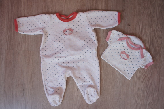 Pyjama Petit Bateau 3 mois + Body 3 mois assorti