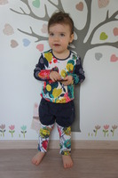Tee shirt et legging 3 ans, short 2 ans