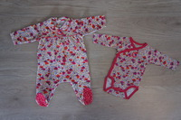 pyjama et Body 3 mois