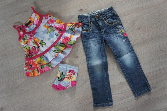 jeans slim 2 ans tunique 3 ans chaussettes 23/24 tbe ++ : 40 E