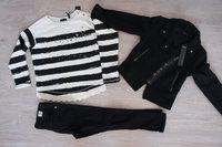 IKKS Veste et Tee shirt 5 ans, pantalon skinny 4 ans