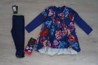 poupée russe Robe et legging 3 ans, chaussettes 23/24