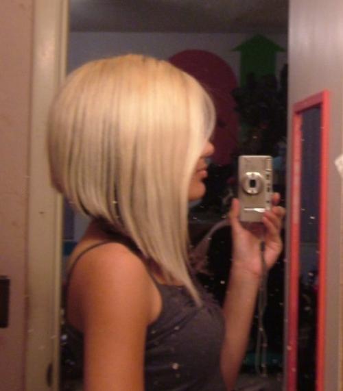 coiffure originale carre plongeant
