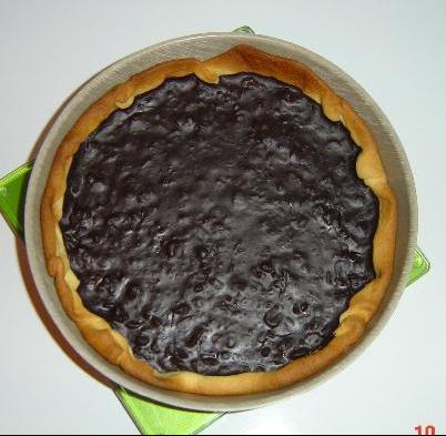 Tarte aux chocolats et aux amandes carameliseses 2.