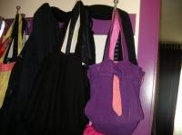 Sacs carrés noir et violet