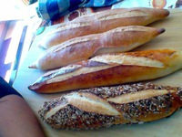 Baguettes après cuisson