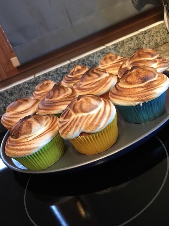 Muffins façon tarte au citron meringuée