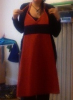 Robe dos nu rouge