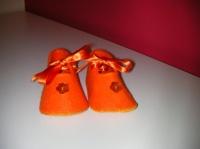 Babies feutrine orange