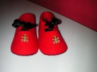Babies feutrine rouge
