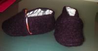 Chausson laine violet