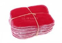 Lingettes lavables rouges