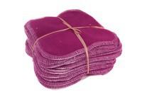 Lingettes lavables violet