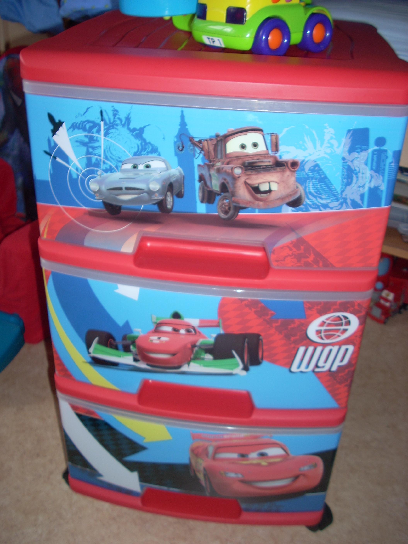 boxe 3 tiroirs cars 2 décoration et accessoires chambre erwan