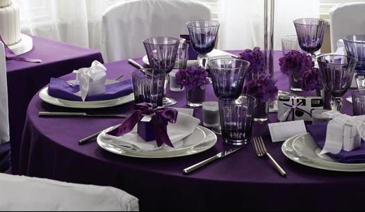 10 idees theme de mariage table violet vignoble vigne