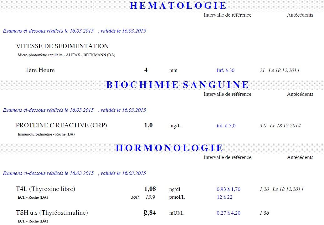bilan sanguin hormonal femme