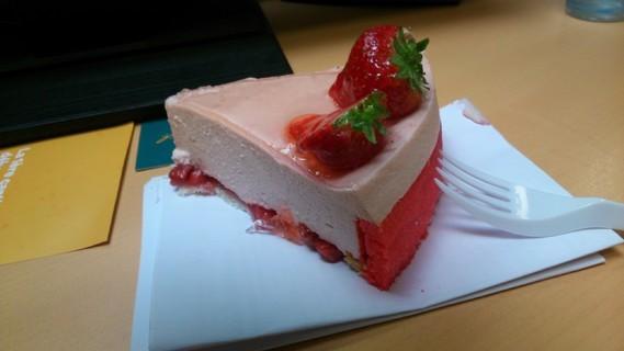 Part de fraisier au boulot ^^
