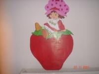 charlotte aux fraises sur ca fraise en bois