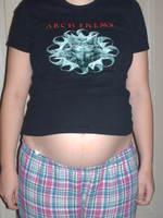 Mon tee-shirt commence à être petit....