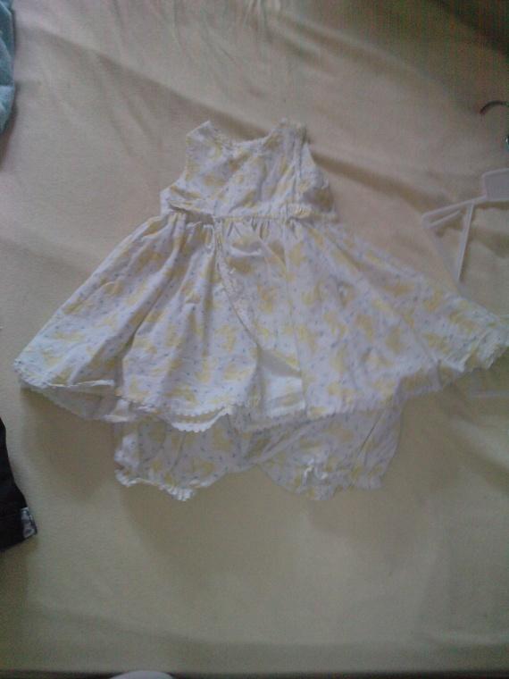 robe été fille avec culotte 9 mois