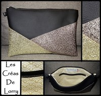 Pochette Triangle 17 € Simili noir - P or - P Bronze