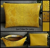 Pochette Duo 17 € Dragon et Simili jaune