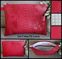 Pochette Duo 17 € Dragon et Simili rouge