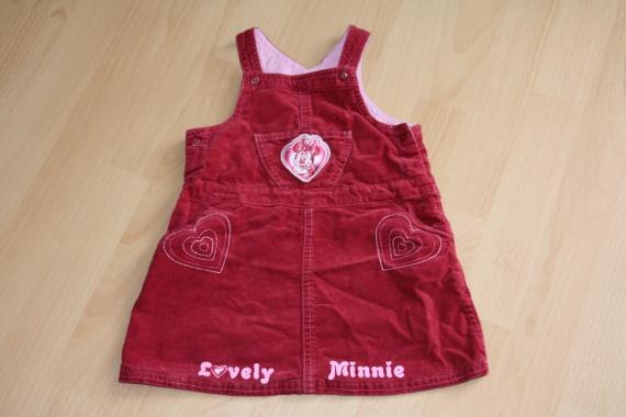 Robe en velours bordeau Minnie 2 euros