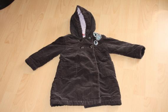Manteau marron à capuche DPAM 23 mois: 6 euros lesnoukies39